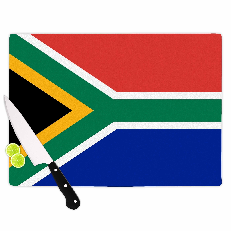 "Kess InHouse Bruce Stanfield ""South Africa II"" Green Blue Cutting Board"