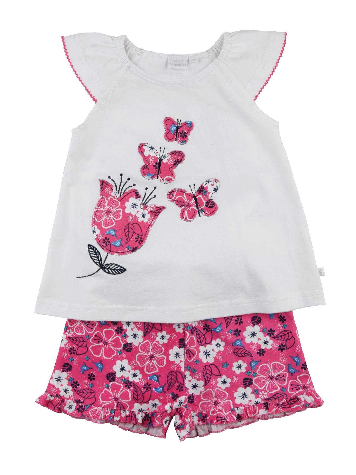 Flutterby butterfly...pretty girlie summer shortie pyjamas