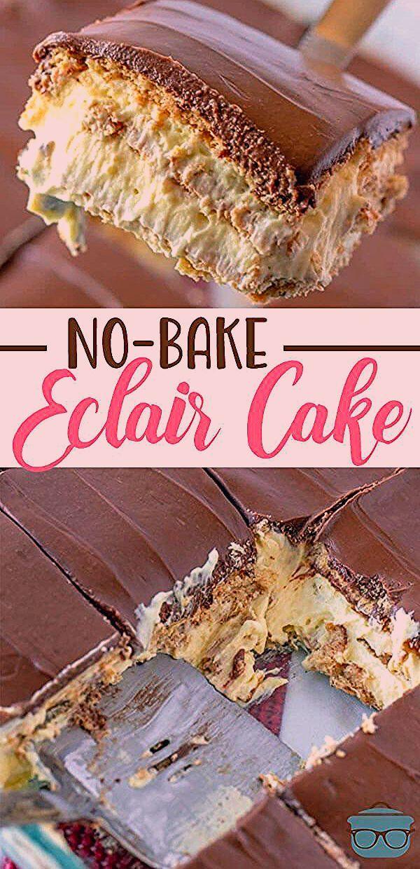 Photo of No-Bake Eclair Cake – Gesundes Naschen – #Cake #Eclair #Gesund #Nicken #Nobake …