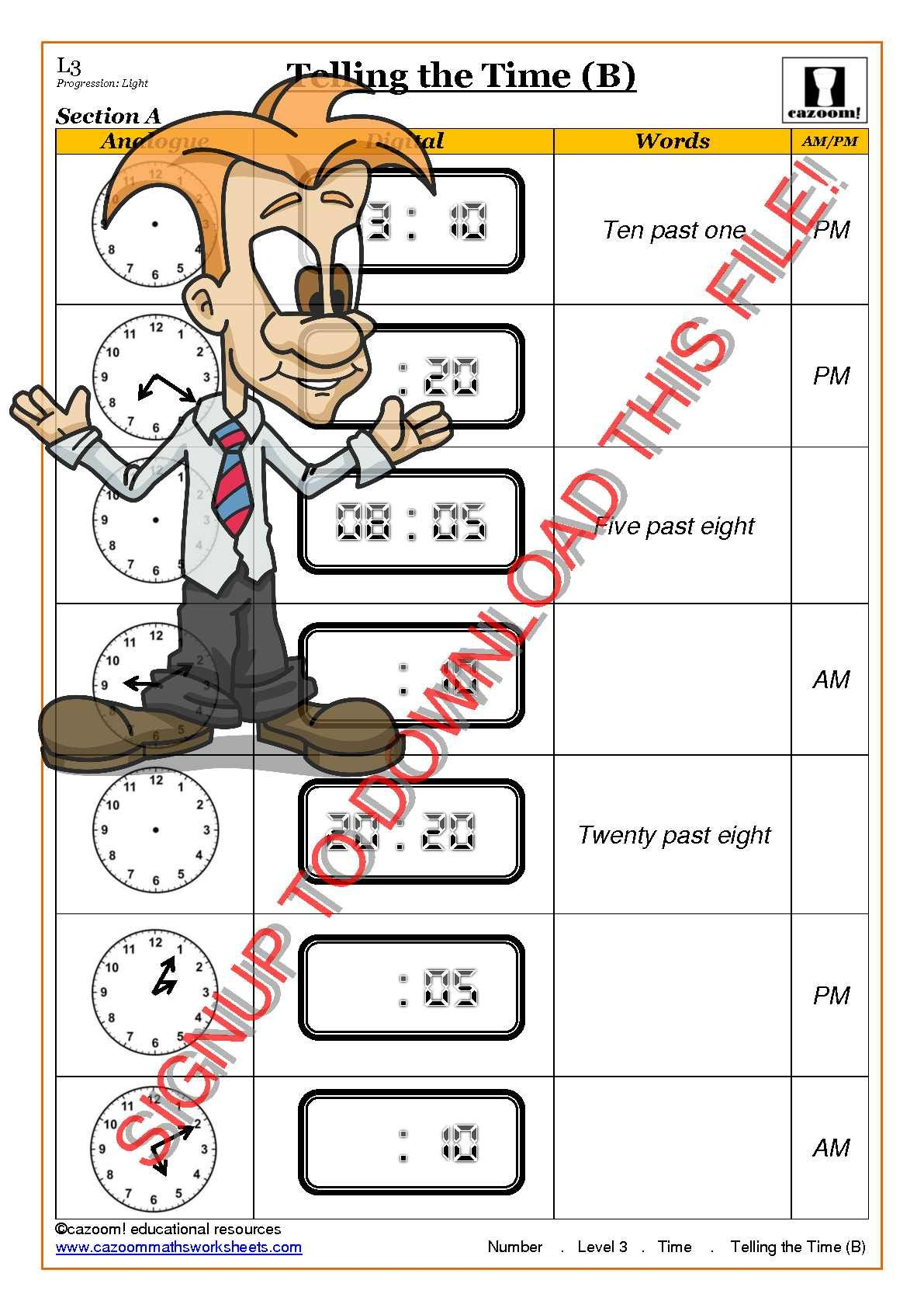 worksheet Am And Pm Worksheets 30 free maths worksheets math worksheets