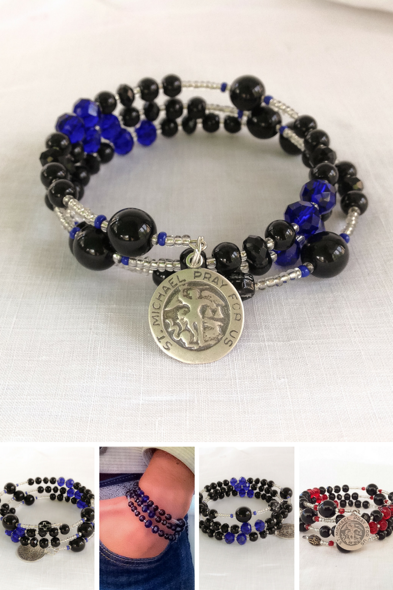 product instagram on with body for line people blue bracelets black bead armor helps provide thin bracelet talking stack charm paw