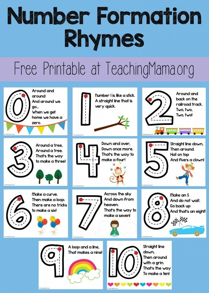 letter formation rhymes free number formation rhyme printable number formation 48868
