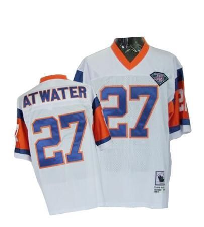 buy online d8f0b b6d97 Steve Atwater Mitchell and Ness Jersey White With 75TH ...
