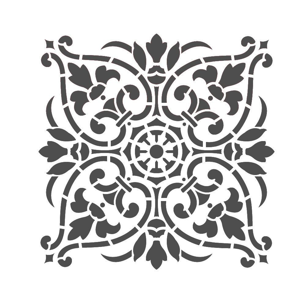 Large wall stencils damask stencil diy reusable pattern decor faux large wall stencils damask stencil diy reusable pattern decor faux mural v0011 amipublicfo Image collections