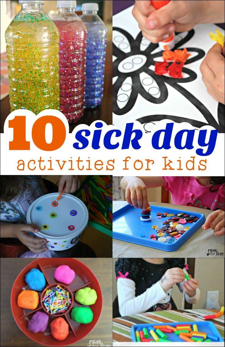 10 Sick Day Activities Fun activities for kids, Craft