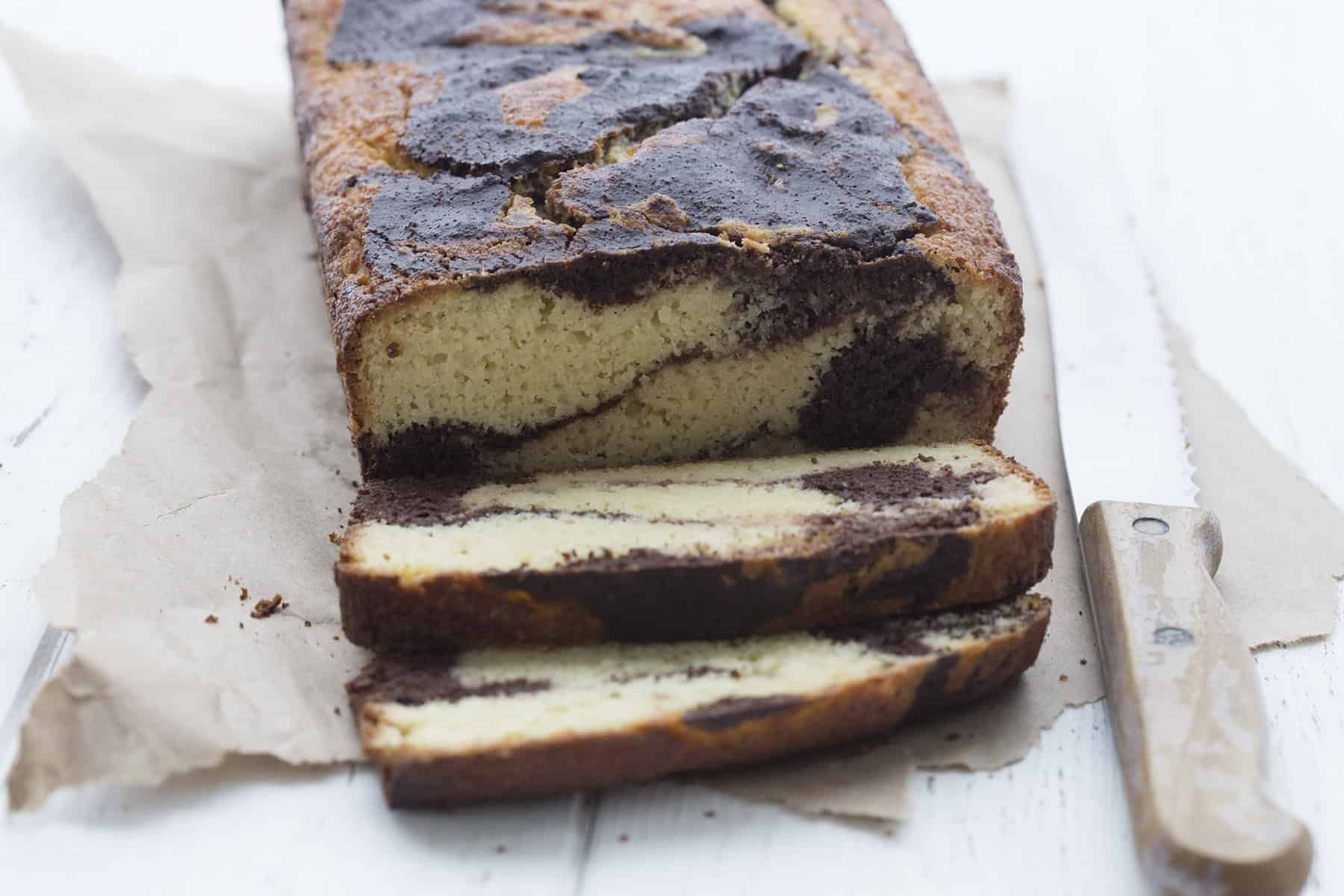Low Carb Sour Cream Marble Loaf Recipe Low Carb Sweets Low Carb Desserts Low Carb Breakfast