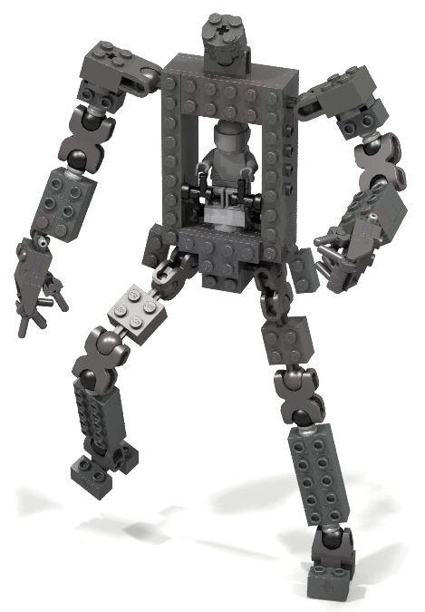 ball joint light duty mech frame v1 | Lego - mecha - robot - frame ...