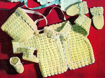 Shell Stitch Sweater Set Free Crochet Pattern Crochet Baby Infant