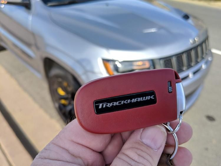Jeep Grand Cherokee Trackhawk Red Key Jeep Grand Cherokee Dodge Charger Hellcat Mopar