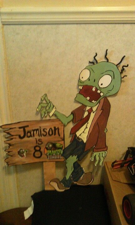 My Sons Plants Vs Zombies Bday Decorations I Made