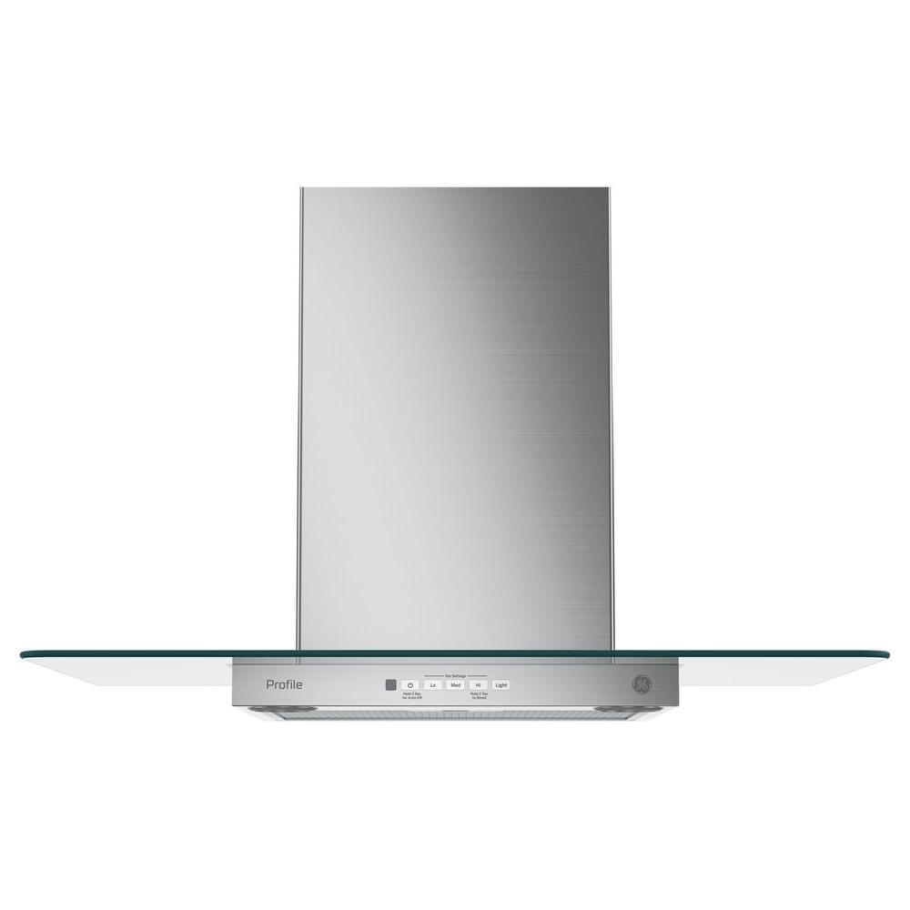 Ge Profile 30 In Convertible Chimney Range Hood In Stainless Steel Pvw7301sjss The Home Depot Range Hood Diy Canopy Stainless Range Hood