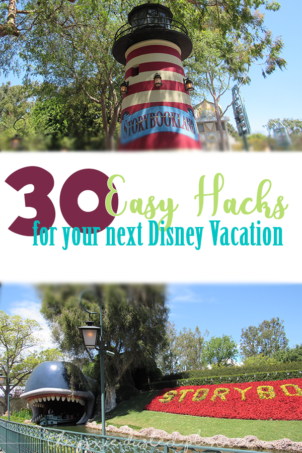 Planning a Disney Vacation can be hard! But whether you're traveling to Disney World, Disneyland, or Disney Abroad - we've got 30 hacks to make you a Vacation Genuis! | #Disney #DisneyParks #DisneyVacation #DisneyHacks #DisneyWorld #WaltDisneyWorld #DisneyWorldResort #Disneyland #Disneylandresort #Florida #Orlando #California #SoCal #Anaheim