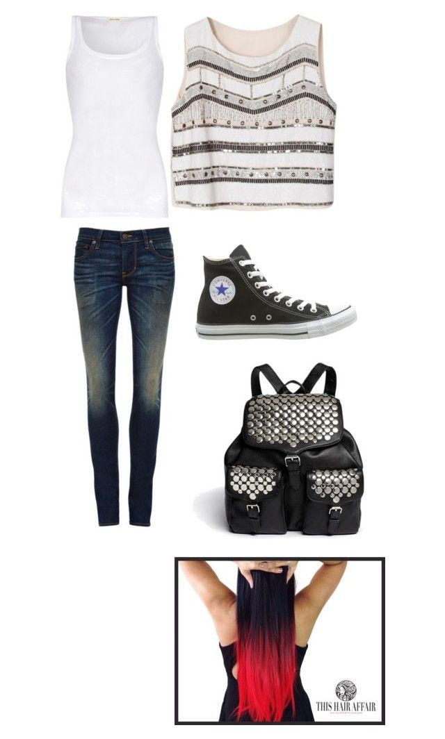 """""""gang style"""" by shafaqali ❤ liked on Polyvore featuring beauty, American Vintage, 6397, Converse and Rebecca Minkoff"""
