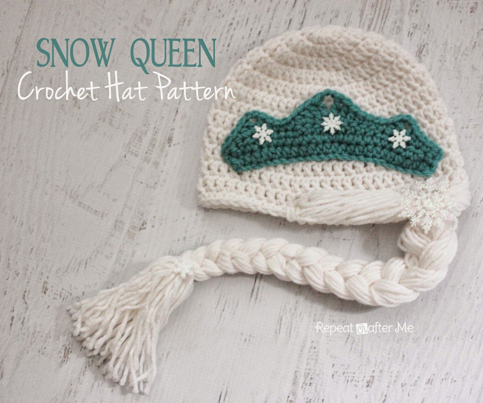 Crochet Snow Queen Hat Pattern | Gorros, Tejido y Ganchillo