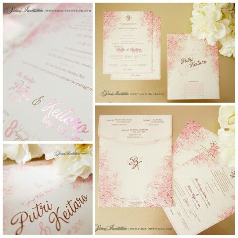Vinas invitation Flowers theme Floral invitation Blossom flower - wedding invitation design surabaya
