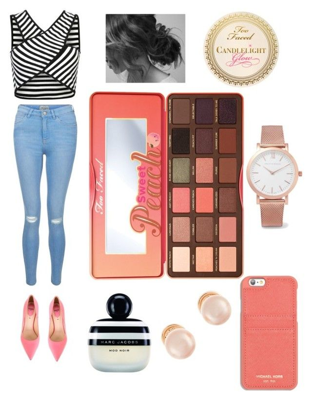 """""""Sweet Peach"""" by morganschulz on Polyvore featuring New Look, Fendi, MICHAEL Michael Kors, Marc Jacobs, Too Faced Cosmetics, Larsson & Jennings and Kenneth Jay Lane"""