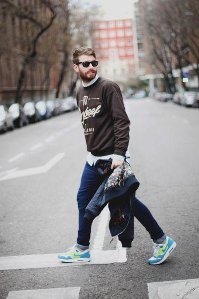 Debilitar Aproximación ilegal  Nike Air Max Outfit Style (Men) - Ferbena.com | Mens street style, Mens  outfits, Men street