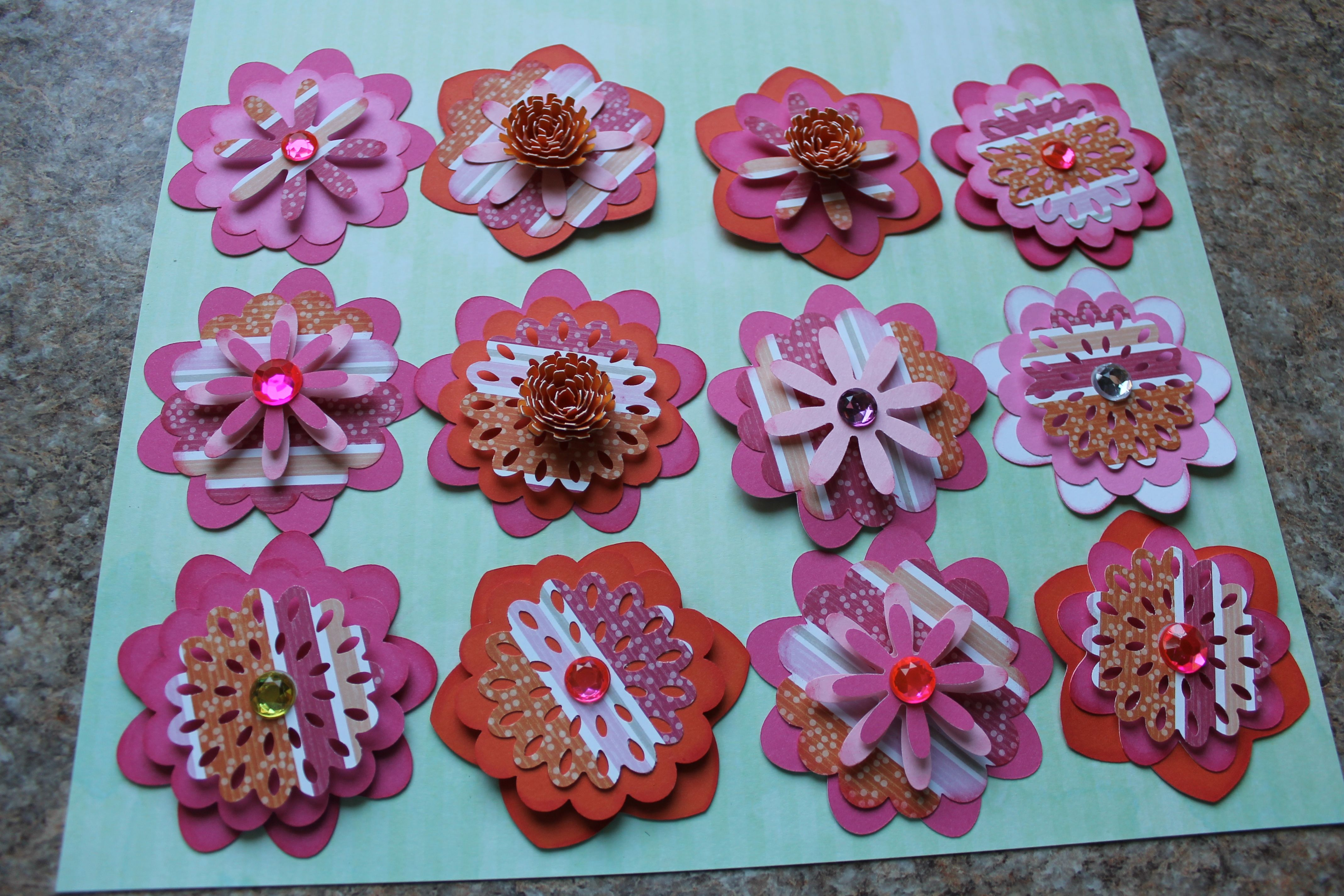 One Of My Favorite Sets Of Handmade Paper Flowers For Scrapbooking