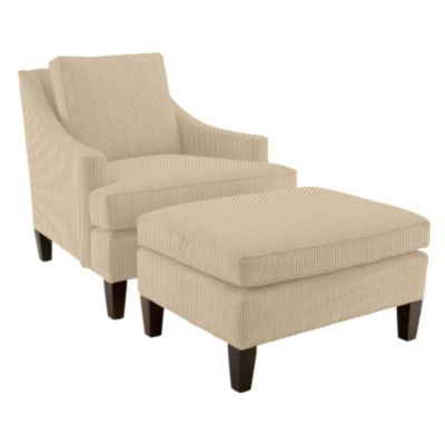 Chair & ottoman for next to fireplace?
