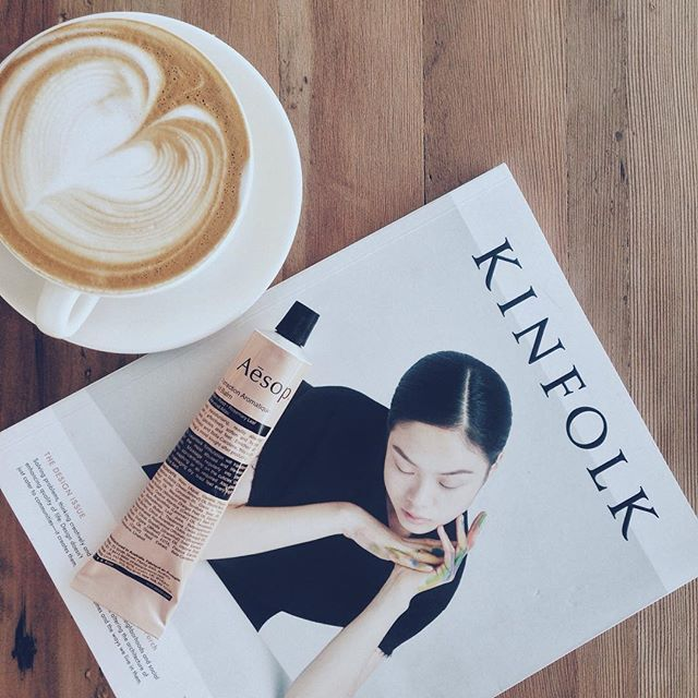 mid week | appreciating simple pleasures + setting aside time to be inspired ☕️ . • • • • #design  #kinfolk  #kinfolkmagazine #aesop  #coffee  #theartofslowliving #minimalism  #simplicity