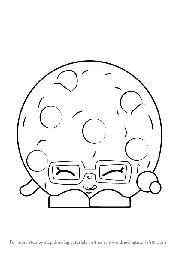 Step By Step How To Draw Candy Cookie From Shopkins