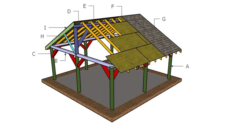 20x20 Picnic Shelter Plans Myoutdoorplans Free Woodworking Plans And Projects Diy Shed Wooden Playhouse Pergola Diy Shed Wooden Playhouse Gazebo Plans