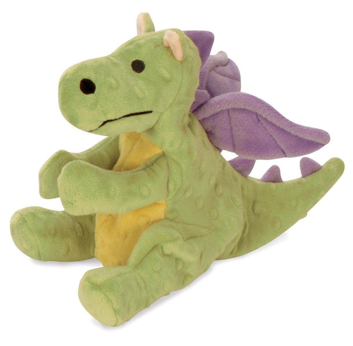 Godog Baby Dragon Large Plush Dog Toy Lime Smart Dog Toys Toy