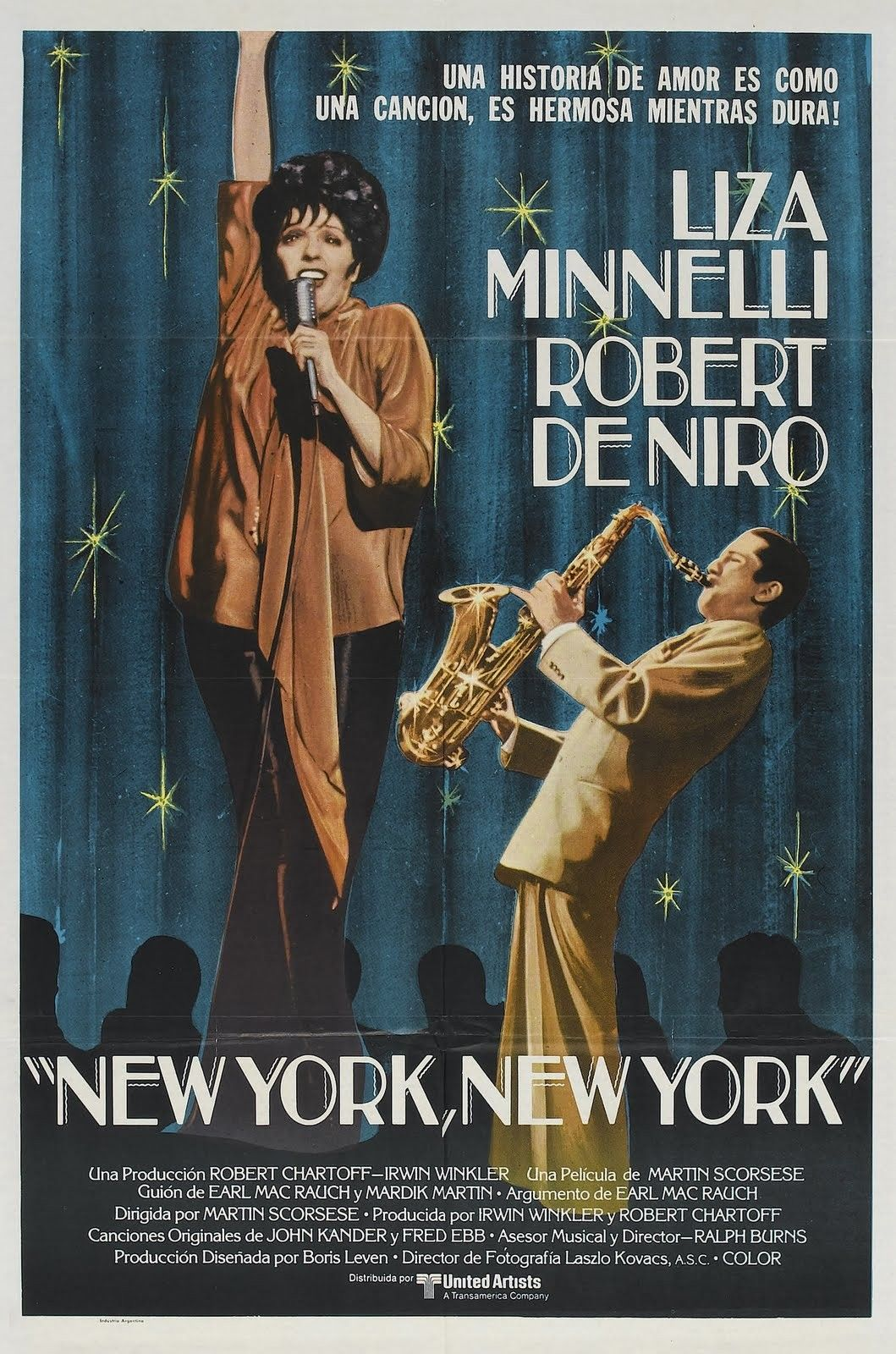 Image result for new york new york film poster""