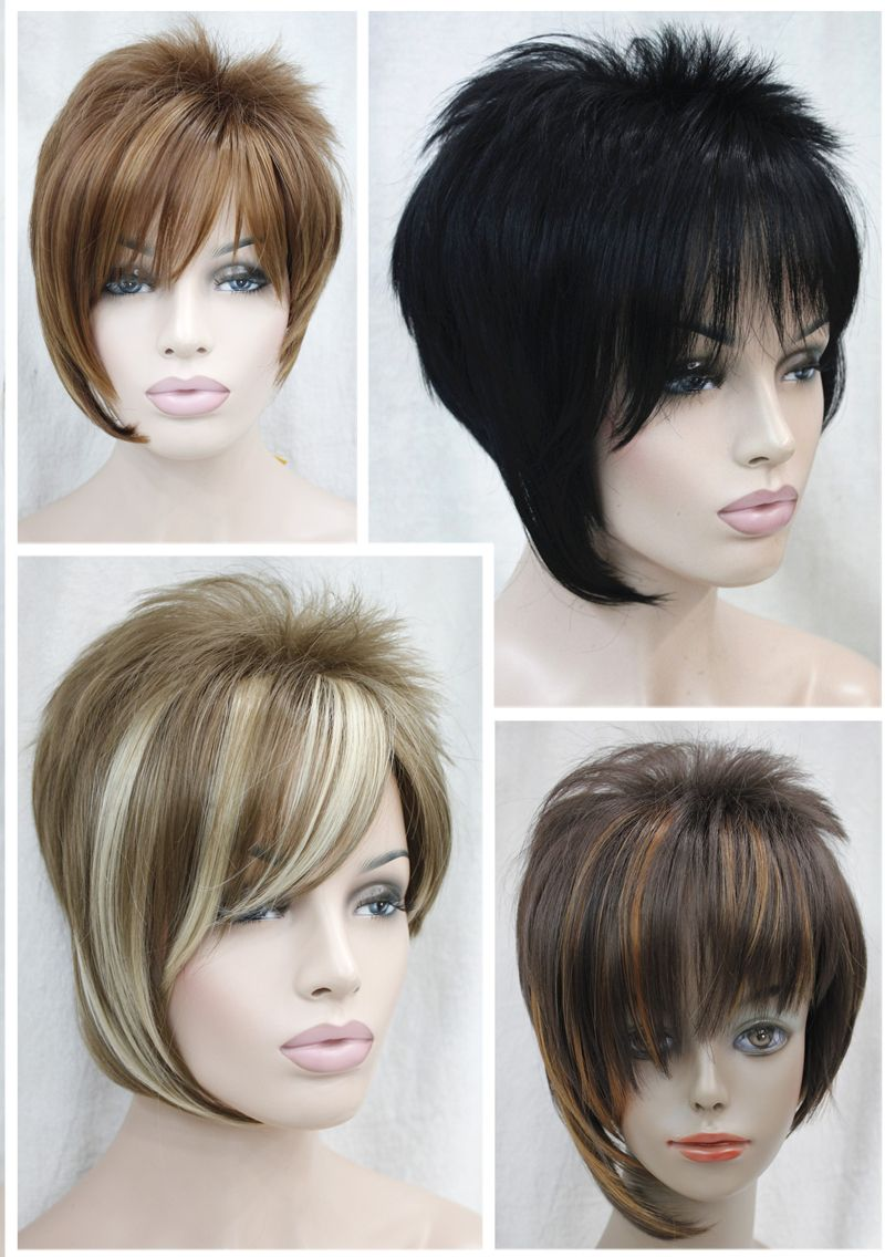 Fashion short wig new sexy ladies short brown blonde mixed natural