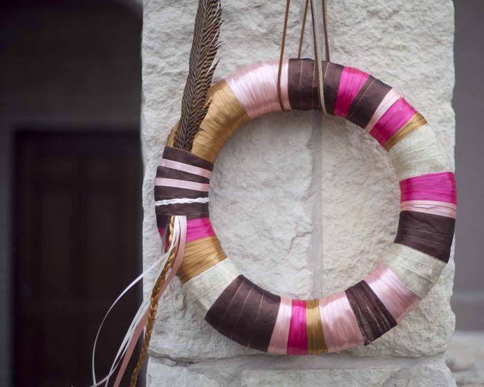 Photo of DIY ribbon wreath