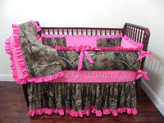 Camo Crib Bedding Set Mary Elizabeth Girl Baby Bedding Camo