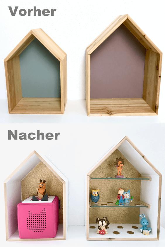 DIY Hausregal zur Aufbewahrung von Tonies