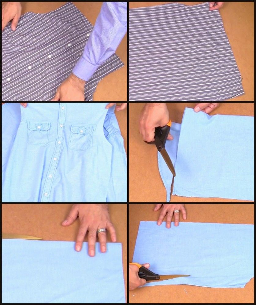 e378ecdd02f Переделки  юбки самых разных стилей из мужских рубашек
