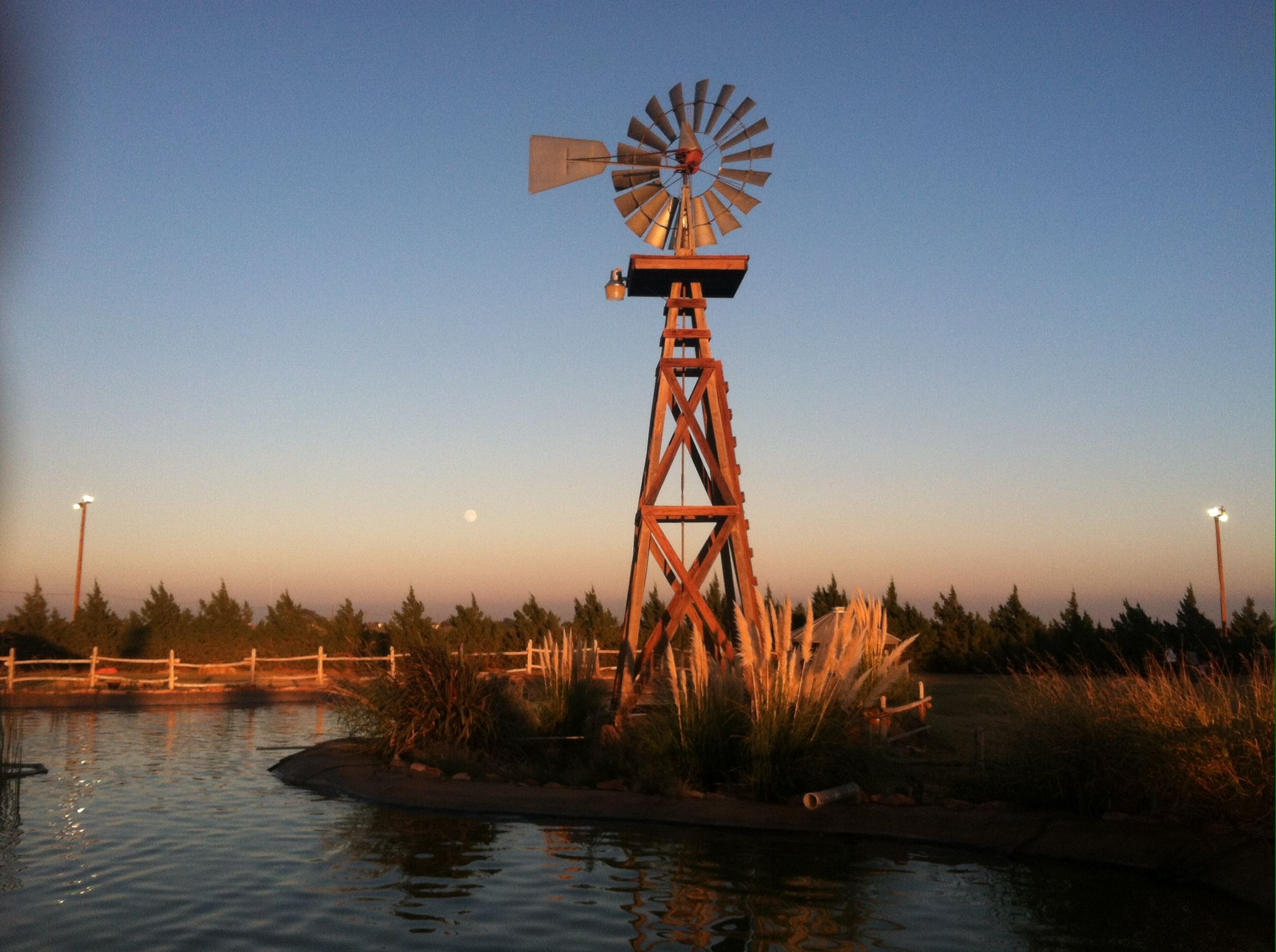 At'l Do Farms Windmill w/Full Moon | Windmills & Outhouses