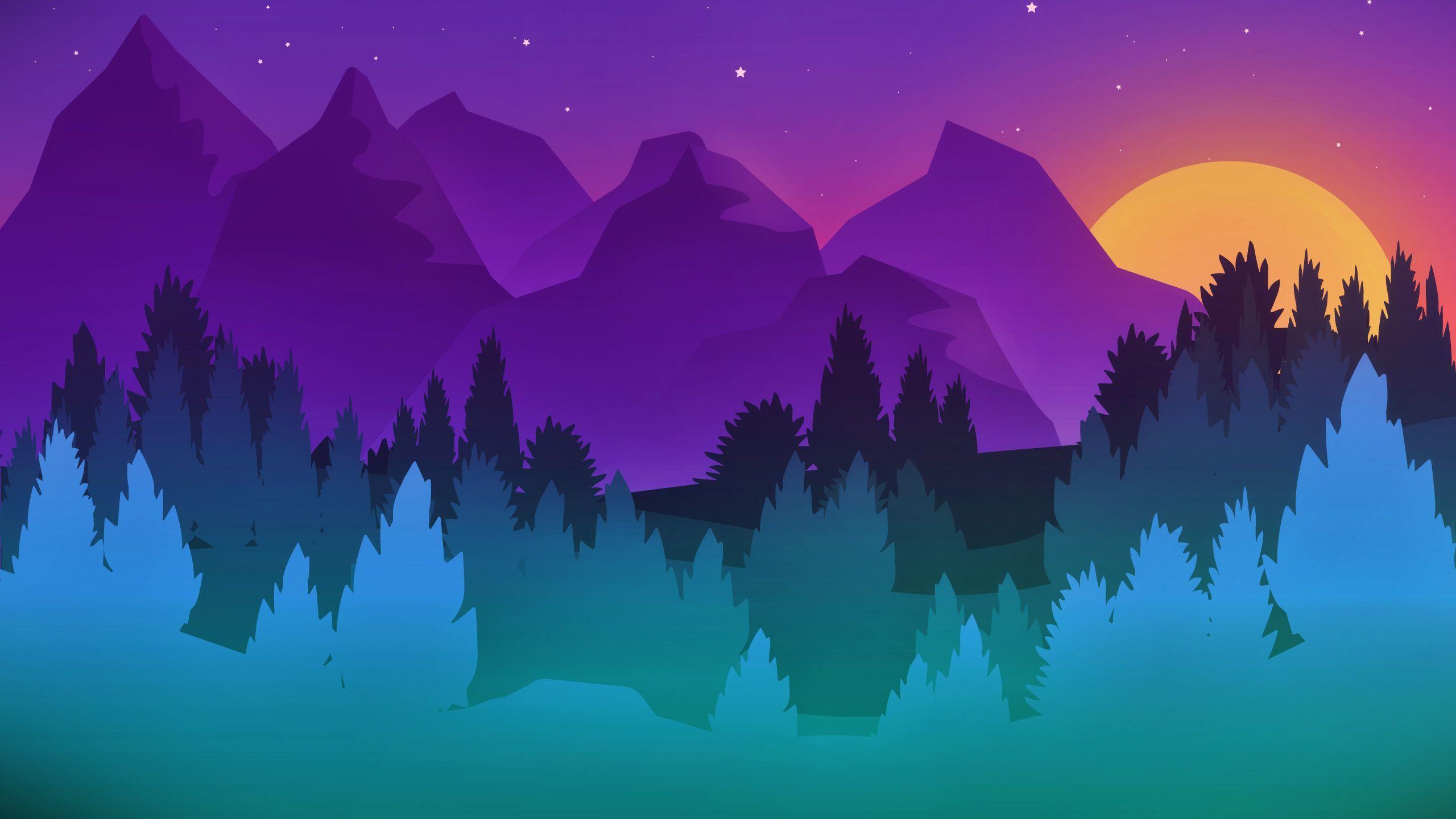 Colorful Minimalist Wallpaper 2560 X 1440 Art Wallpaper Minimalist Artwork Iphone Wallpaper Winter