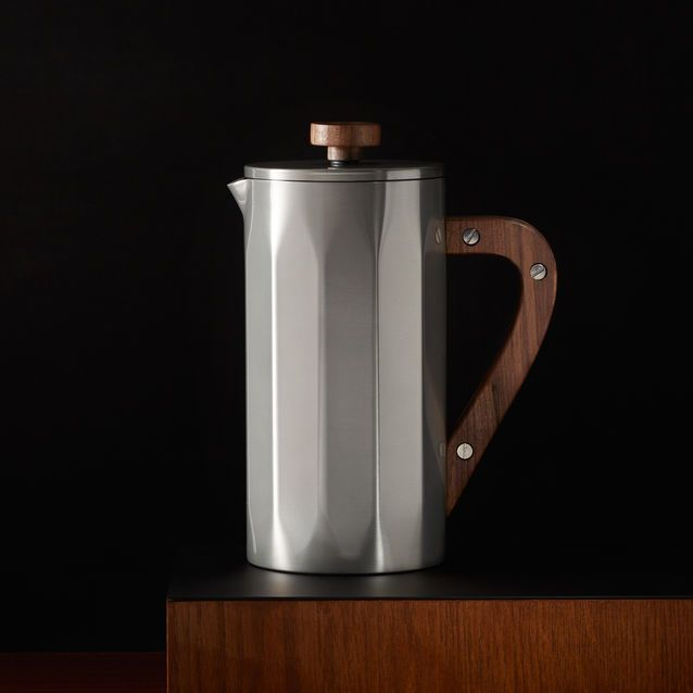 Starbucks Stainless Steel Coffee Press With Walnut Handle A Double Walled Accents And Included Timer Scoop