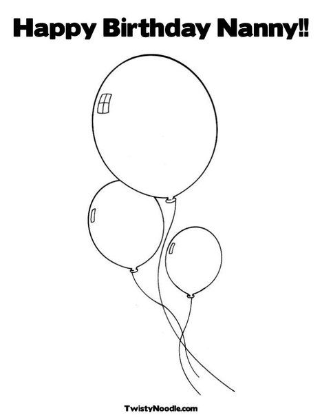 Balloons Coloring Page | Party Ideas | Pinterest | Moldes