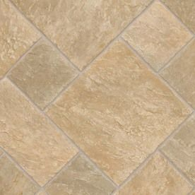 Ivc 13 1 8 Ft W Venturi Tile Finish Sheet Vinyl Low Gloss Lowes Home Improvements Flooring