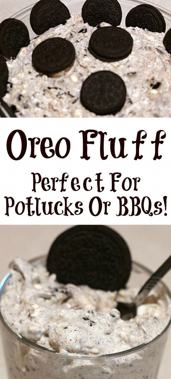 Oreo Fluff is the perfect quick dessert to make for any potluck or BBQ!!! Oreo Fluff is always a huge hit at any get together with kids and adults! #oreo #dessert #potluck #oreocake