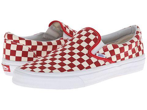 Vans Classic Slip On™ Røde rutete varebiler, Vans sklir på  Red checkered vans, Vans slip on