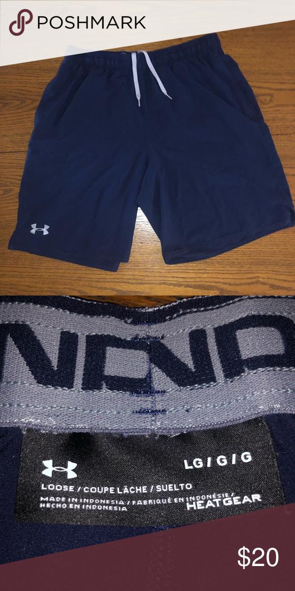 ensalada comienzo ajuste  Large men's Underarmour navy athletic shorts. | Clothes design, Fashion  design, Fashion