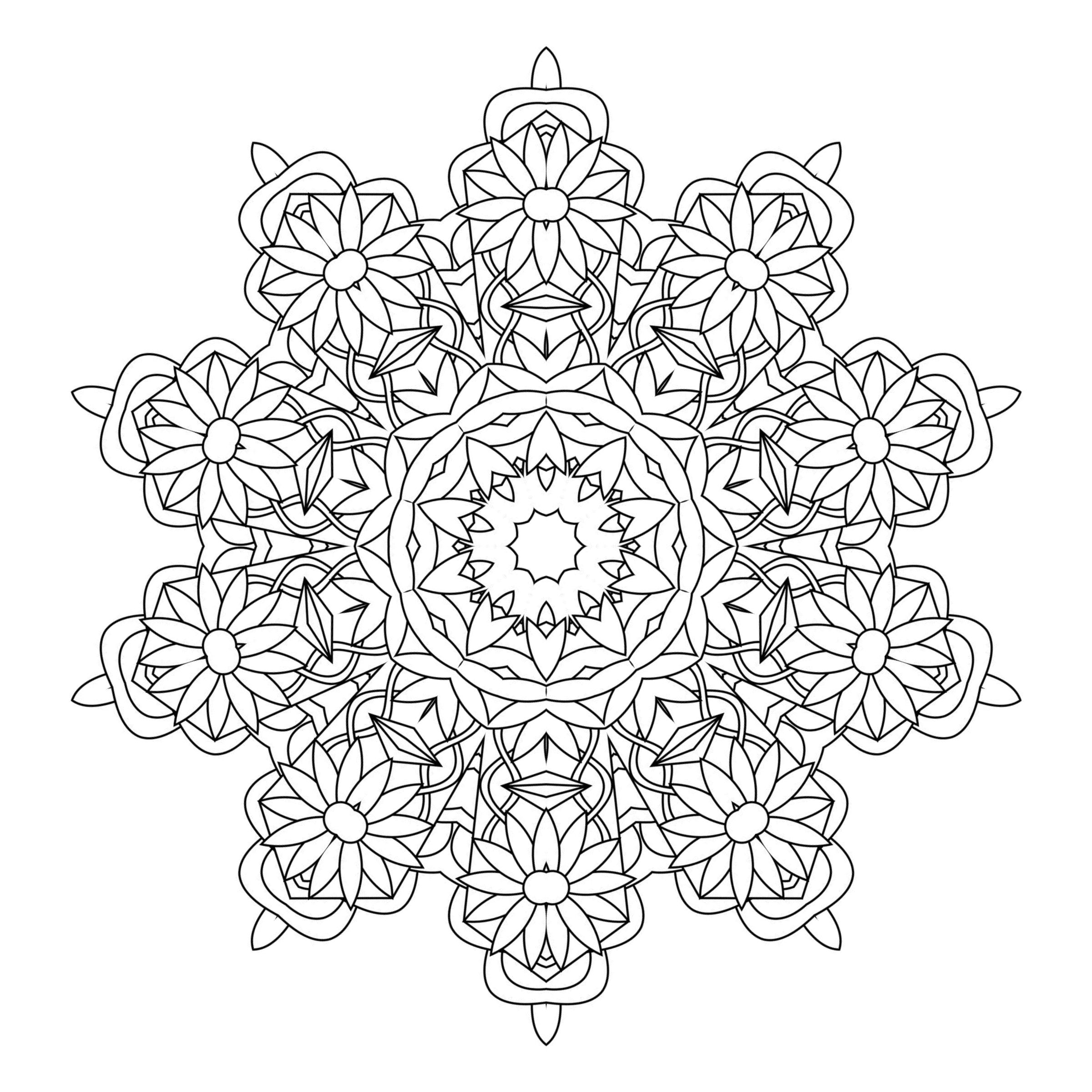 Free coloring pages kaleidoscope designs - Free Coloring Page To Print And Color