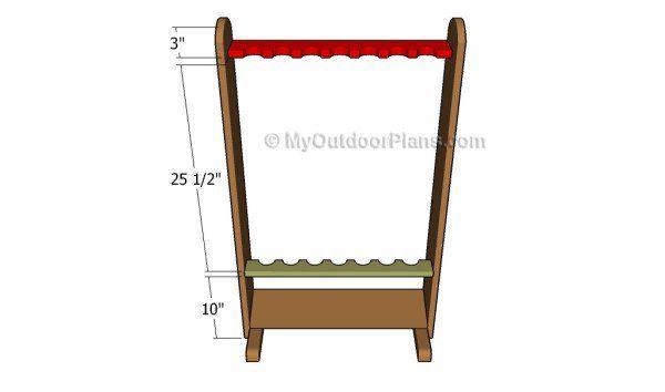 Fishing Rod Rack Plans Myoutdoorplans Woodworking And
