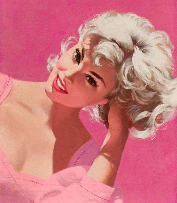 Картинка пин ап блондинка, картинки страницу