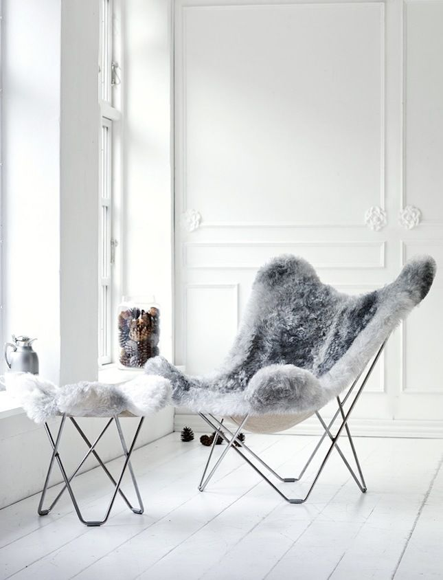 Stuhl Fell einrichtungsideen mit fell kuschelige möbel für kalte wintertage