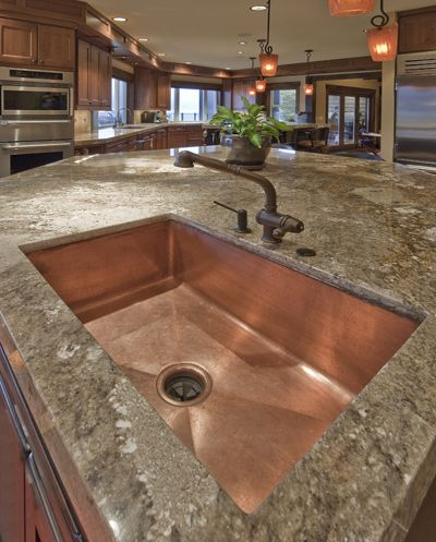 Granite And Copper Sink. Very Cool. | Home Ideas | Pinterest