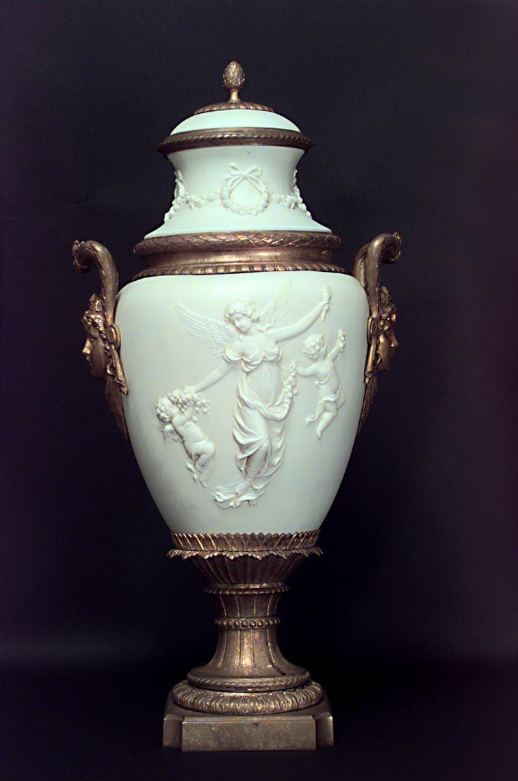 French Louis XVI accessories urn/vase porcelain