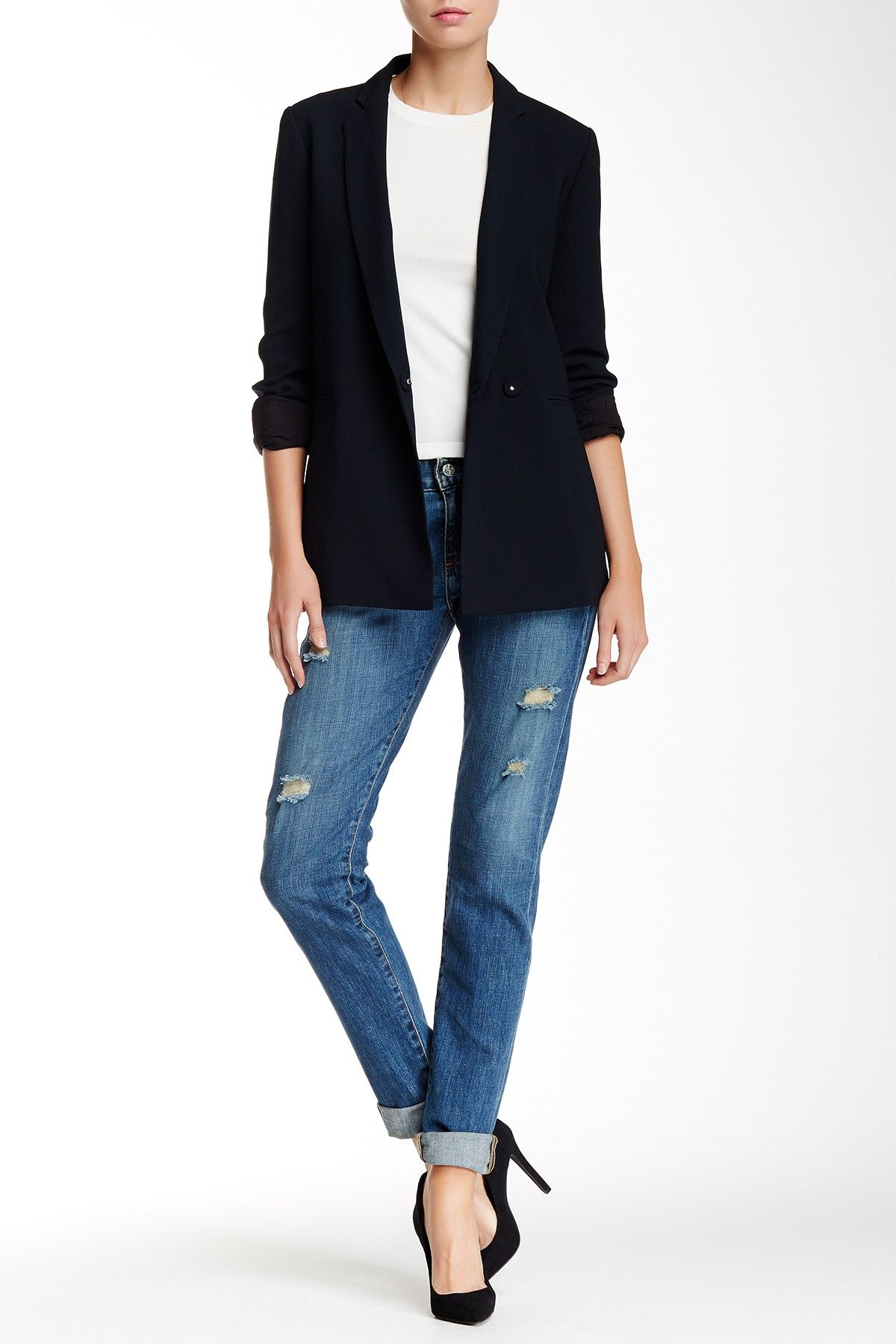 Simple + classic.  Love these AG Nikki Relaxed Skinny Jeans