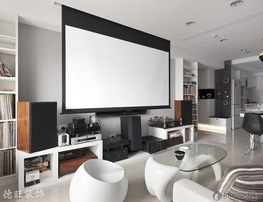 Home Theater Design Small Apartment Living Room Effect Chart