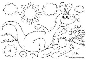 Australia Day Colouring Pages Of Australian Colouring In